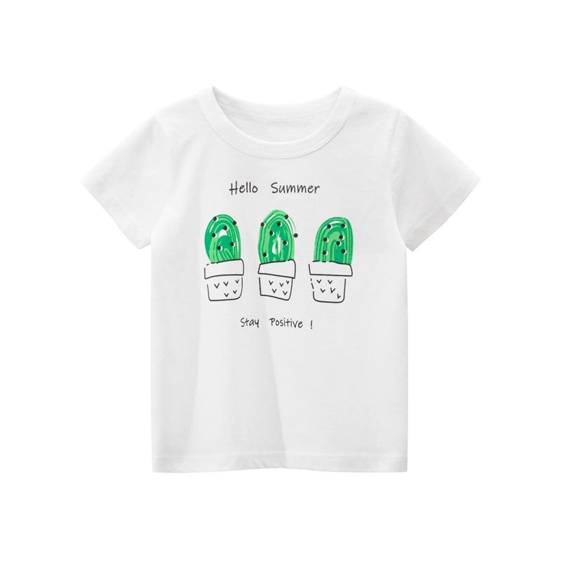 純棉童裝 夏季女童t恤 韓版女童短袖T恤寶寶衣服ins