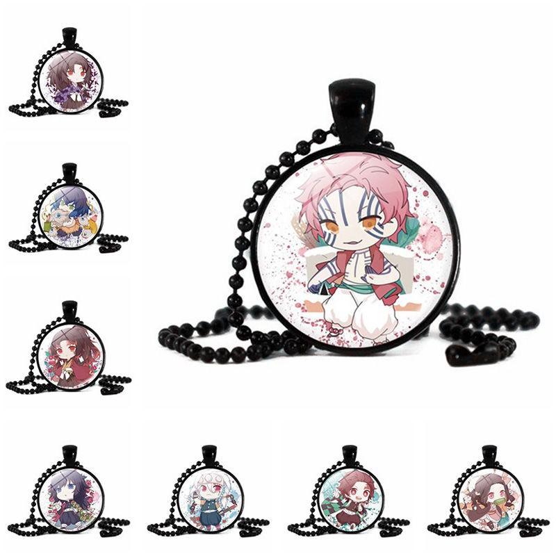 鬼滅之刃項鏈女學生韓版簡約吊墜動漫周邊DIY飾品個性小禮物(時光)