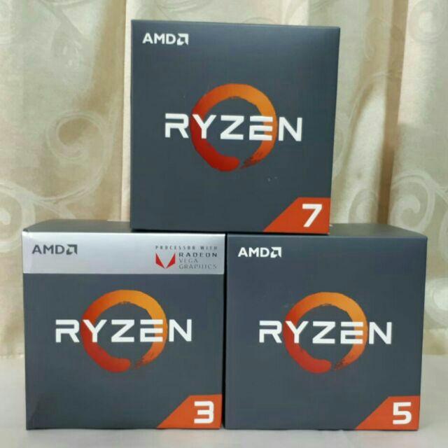 AMD RYZEN R3 R5 R7 3200G 3500 3600 2600X 2700 2700X CPU AM4