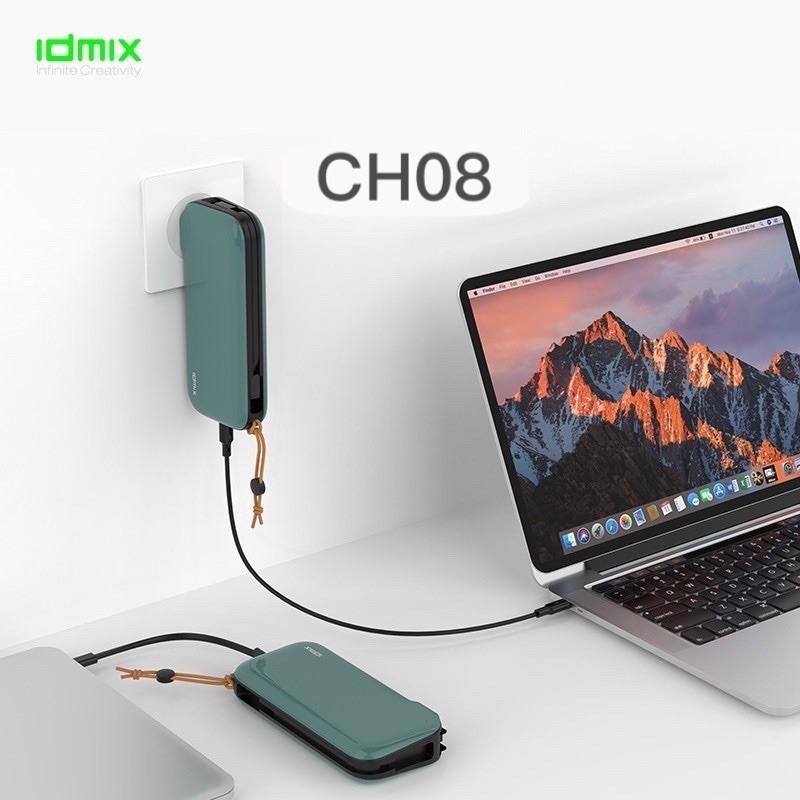 🇹🇼台灣現貨⚡️火速寄出🔥 IDMIX 正版 CH08 行動電源 自帶頭 自帶線 插頭 快充 iPhone 安卓