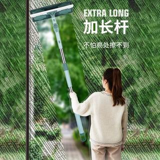 【刮雨器】【秒殺款】擦玻璃神器大號雙面多功能擦窗器家用高樓加厚伸縮桿擦玻璃器工具11