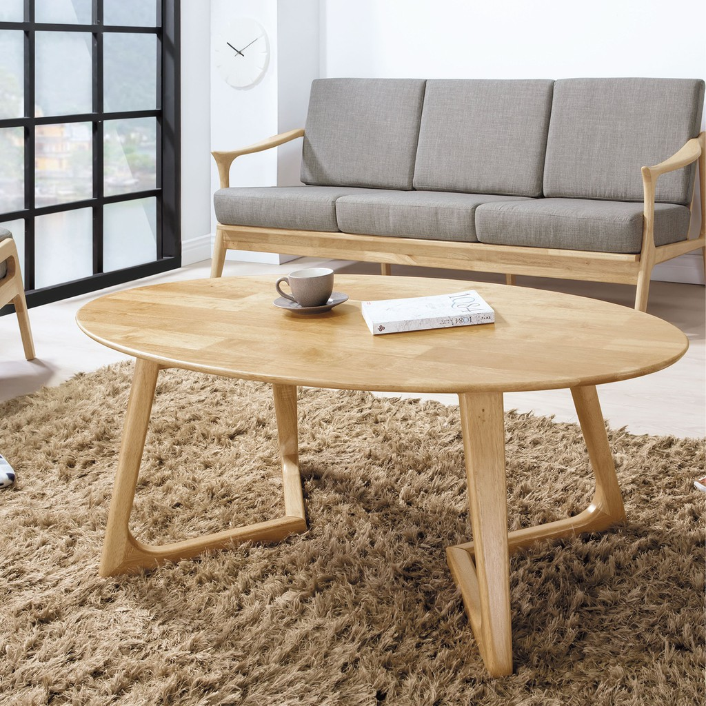 【120cm大茶几-B283-03】實木原木玻璃 大理石長方桌 大小邊几 圓桌 【金滿屋】