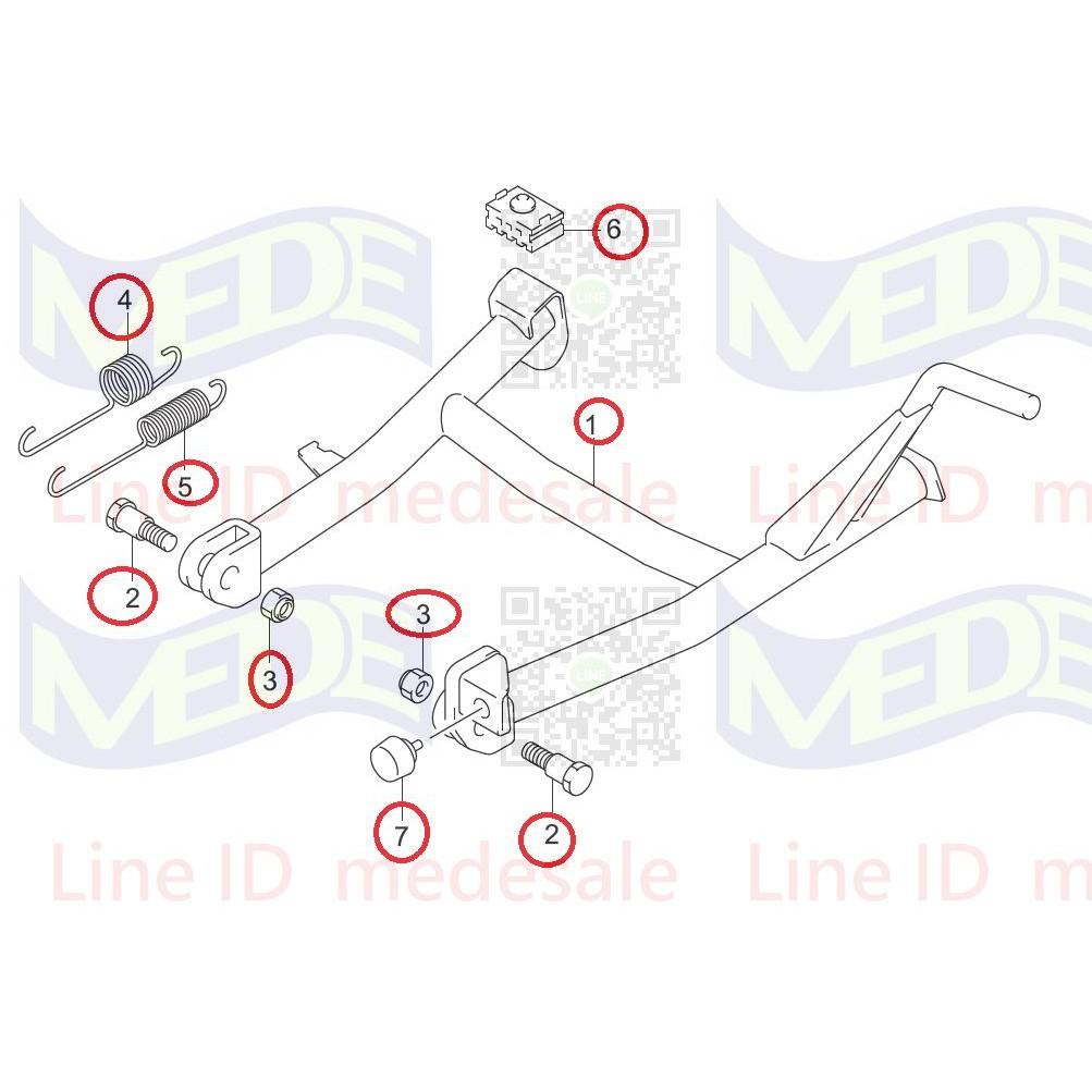 ~MEDE~ Suzuki gixxer sf 150 專用 中柱 中柱套件 gixxer sf 250