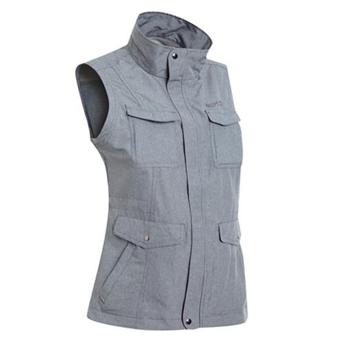 瑞多仕 DA2390 女多口袋背心(蓋袋款) 碳麻灰色 登山 釣魚 戶外休閒 RATOPS