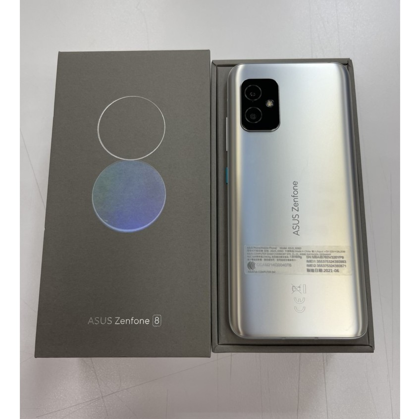 ASUS Zenfone 8 8GB/128GB 銀 9.9成新 中古二手機 🔺保固期2022/08