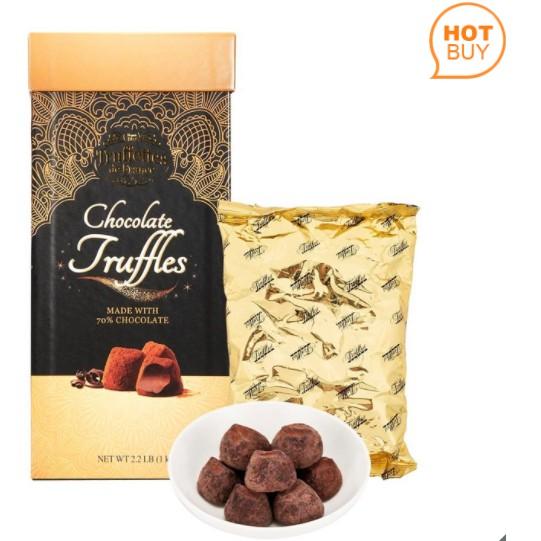 Truffettes De France 代可可脂松露巧克力禮盒 1公斤 好市多 1073334  法國 禮盒松露巧克力