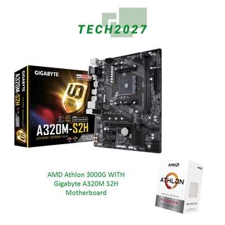 帶有技嘉 A320M S2H 主板的 Amd Athlon 3000G