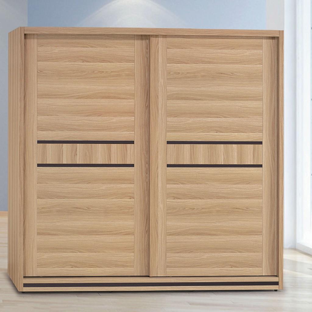 【211cm衣櫃-K19-313】木心板 推門滑門開門 衣服收納 免組裝 【金滿屋】