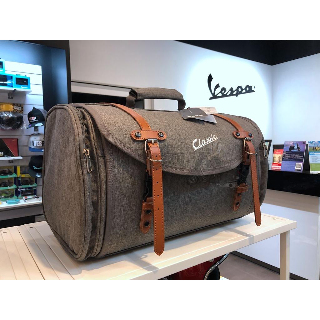 【VESPA RAGAZZO】VESPA 全車系通用 SIP SCOOTER 德國 帆布箱 帆布袋 灰棕款