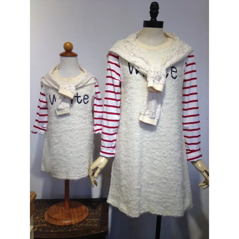 YP. VINO(11690)毛毛刺繡背心洋裝