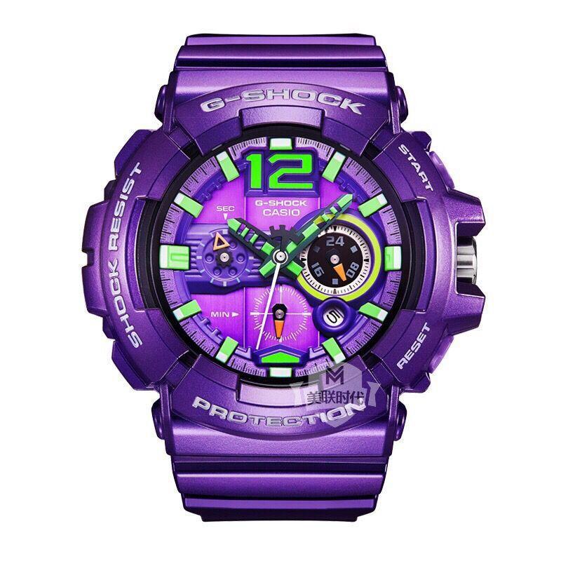 CASIO 卡西歐 G-Shock GAC-110-6A EVA絕版電光紫初號機 耐沖擊抗磁防水 手表