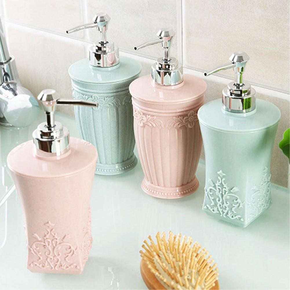 Supperich 400ml 3D雕刻花型沐浴露液體瓶