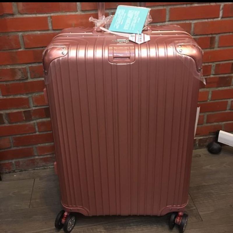 Rowana 輕量鋁框行李箱 25吋(玫瑰金)