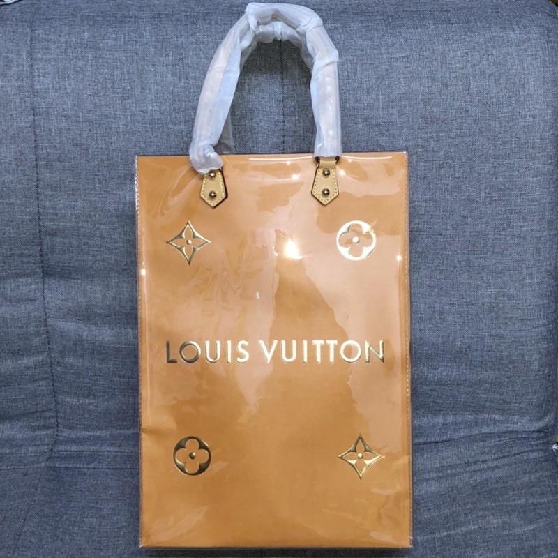 LV聖誕節限量金色紙袋改造包/購物袋/名牌紙袋/LOUIS VUITTON紙袋/路易威登紙袋