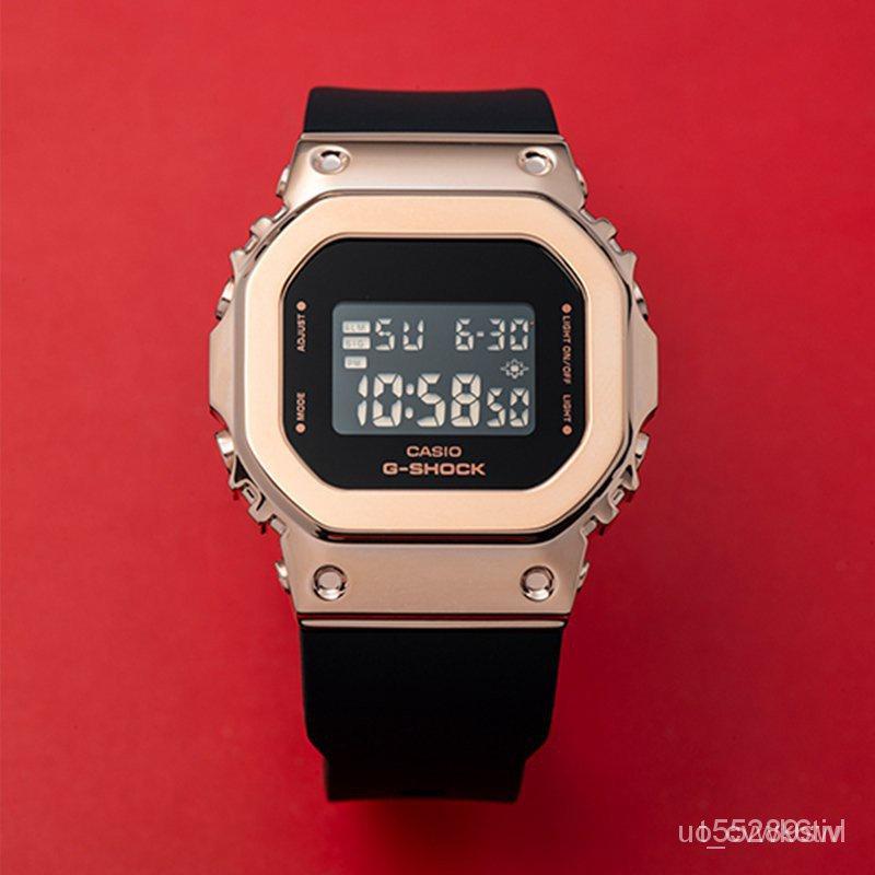 2021開學卡西歐金屬小方塊G-SHOCK限定開學手錶男女GM-S5600 PG 7 GM5600 xvP32021新品