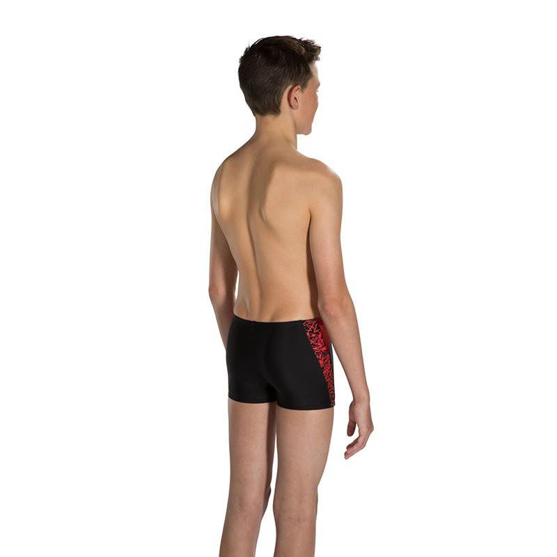 【現貨】Speedo/速比濤舒適貼合時尚logo印花兒童平角泳褲男可愛水陸兩用