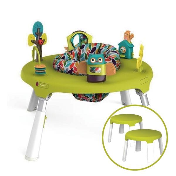 新加坡ORIBEL 成長型遊戲中心/遊戲桌(含椅凳x2) 綠色【麗兒采家】