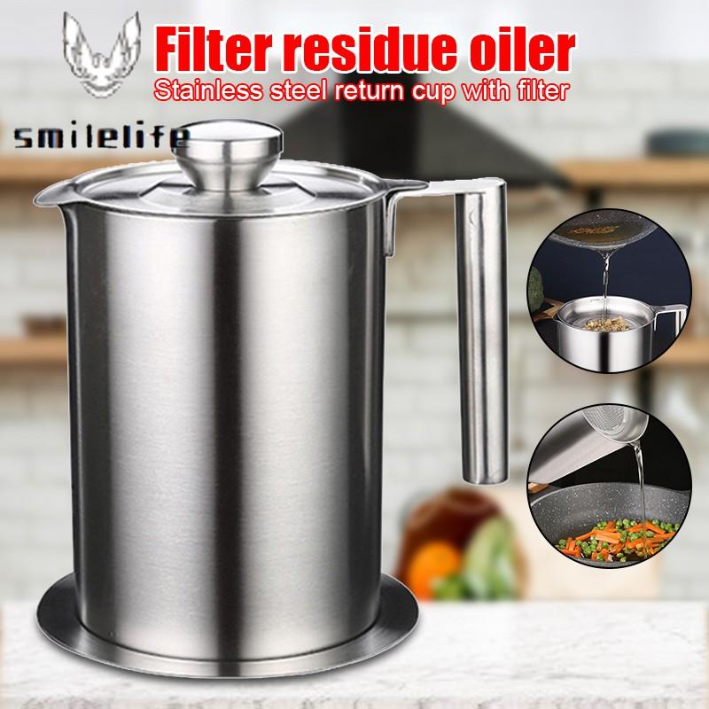 不銹鋼廚房烹飪油濾鍋湯油脂過濾器分離器大容量