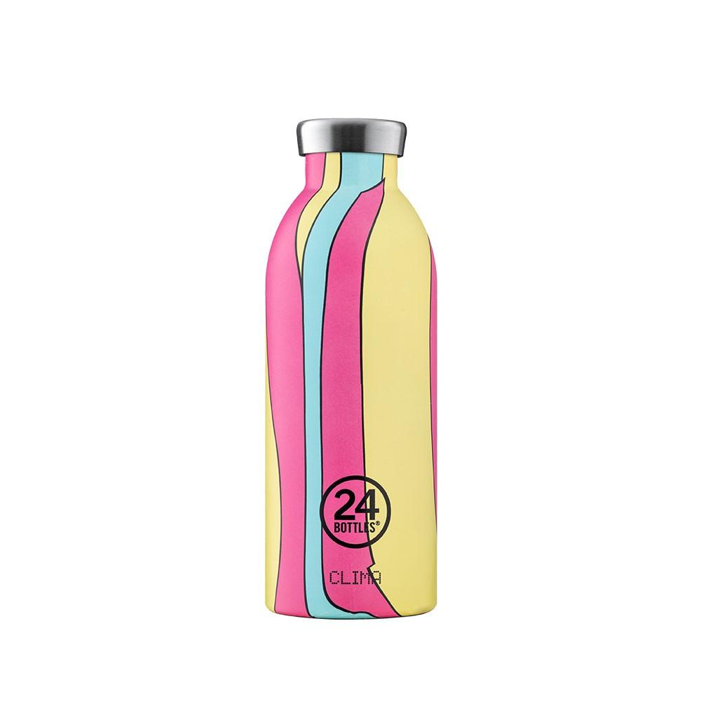 義大利 24Bottles 不鏽鋼雙層保溫瓶 500ml - 波普粉