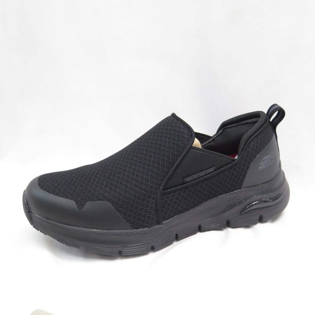 Skechers ARCH FIT SR-TINEID 男款 寬楦 防滑工作鞋 200026WBLK 黑【iSport】