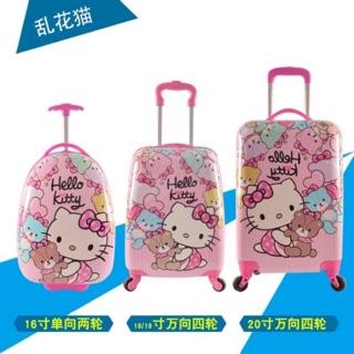 🇹🇼台灣現貨❤️Hello kitty🎀特價組🎀可愛卡通行李箱❄️藍色冰雪❄️紫色冰雪❄️18吋雙面款❄️現貨 高雄市