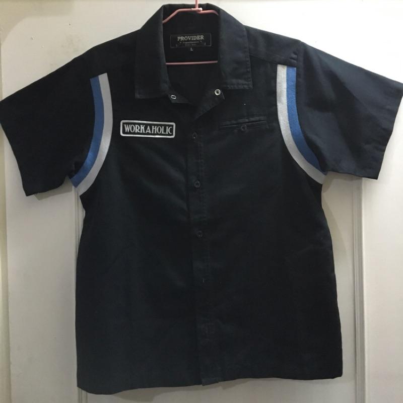 Provider二手拼接羅紋貼布工作襯衫L號