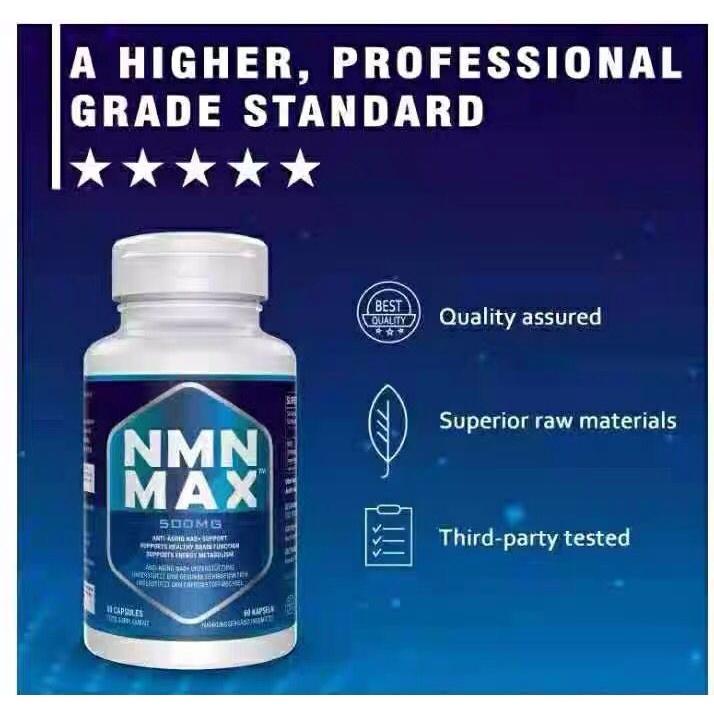 美國NMN30000 MAX 煙酰胺單核苷酸NAD補充劑60粒裝