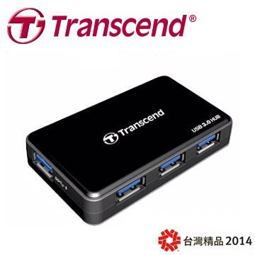 創見 極速 USB 3.0 4埠集線器HUB(附變壓器)