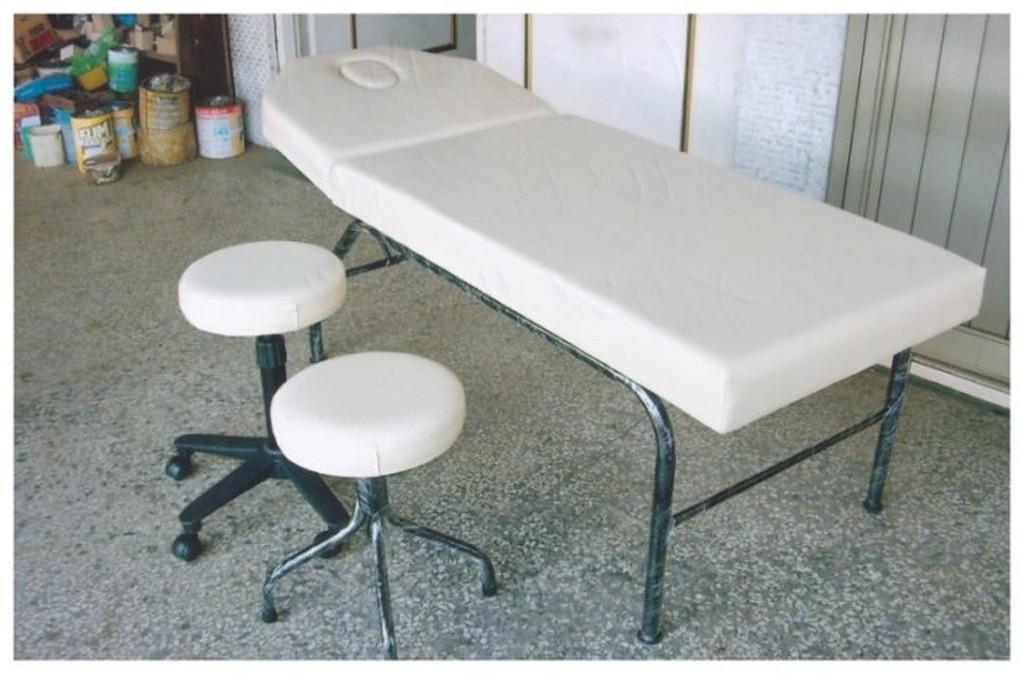 愛飛翔  A-6 歐式兩用床 中 不含椅 (黑漆) 美容床W66*L182*H60【非台南、高雄請另問運費】