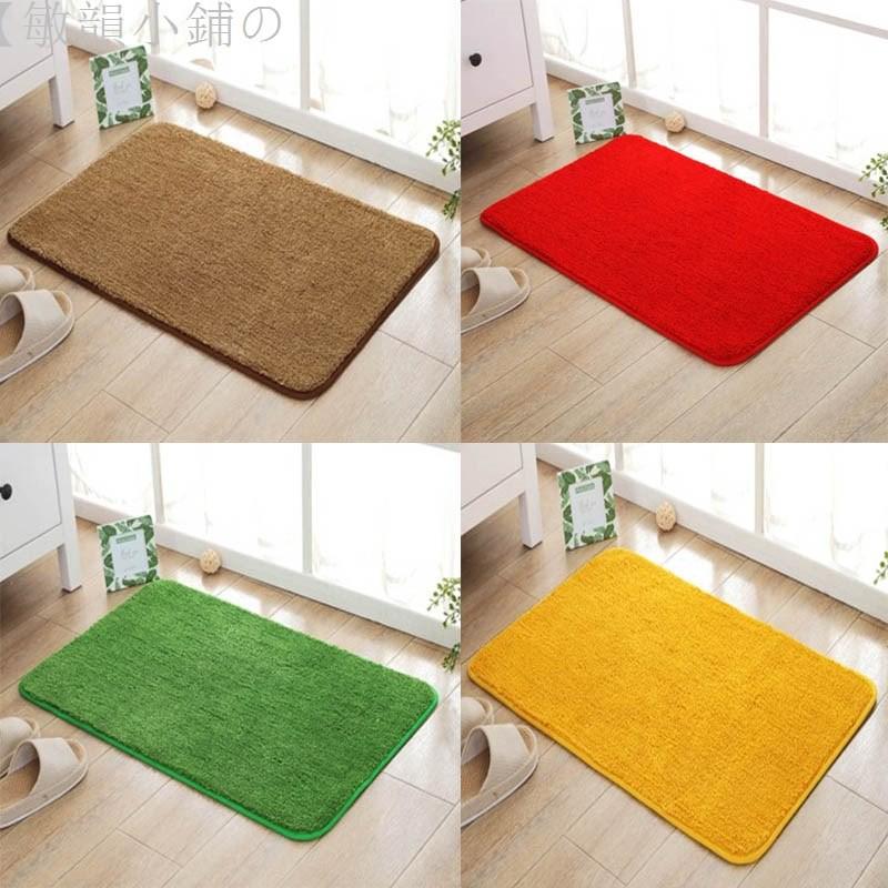 【敏韻小鋪の家用金黃色門口進門地墊臥室門廳大紅色喜慶地毯浴室草坪綠色腳墊