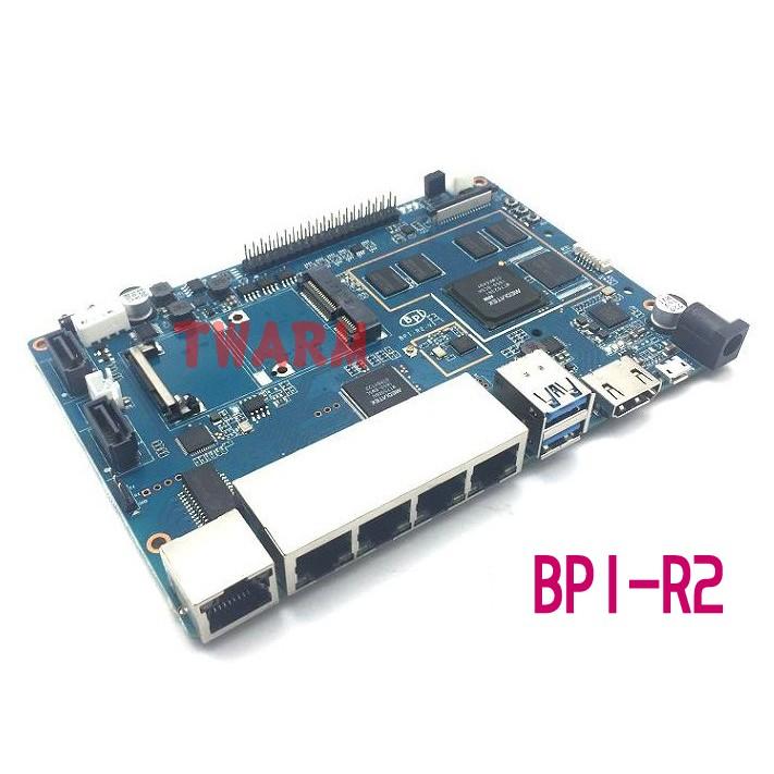 TW17718 / 香蕉派 BPI-R2(Banana PI R2)智能路由器 SATA接口