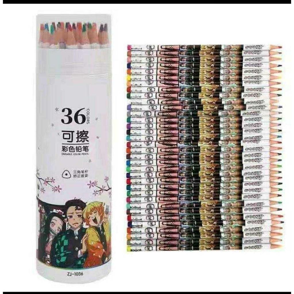 鬼滅之刃36色可擦彩色鉛筆  預購商品