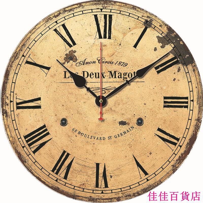 佳佳百貨店 爆款產品復古掛鐘創意時鐘裝飾掛表