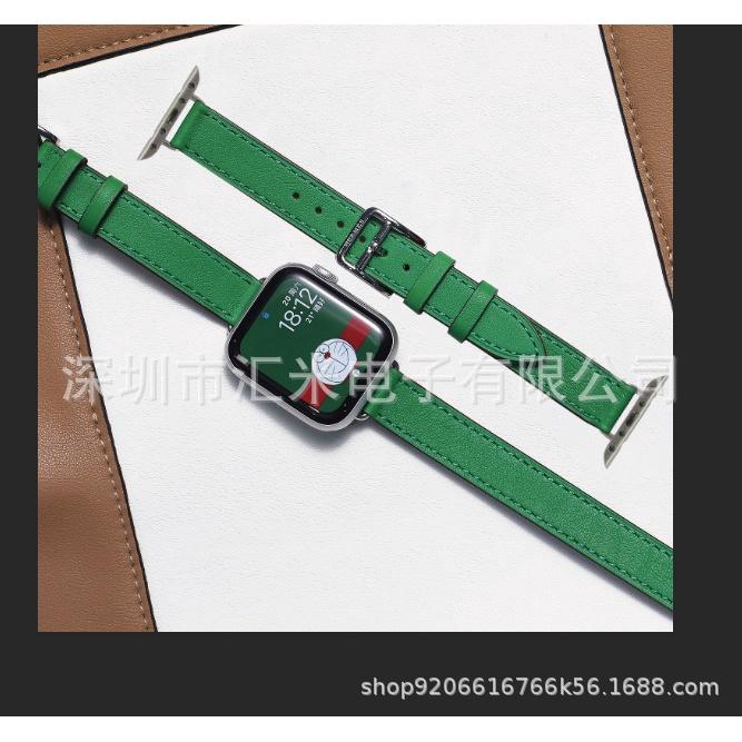 適用iwatch6蘋果手錶小蠻腰細錶帶 Apple Watch/SE/5/4 愛馬仕錶帶