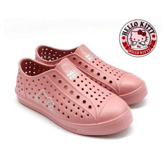 新品上架 Hello Kitty 凱蒂貓 防水洞洞鞋 休閒鞋 懶人鞋 ( 粉 920118P )