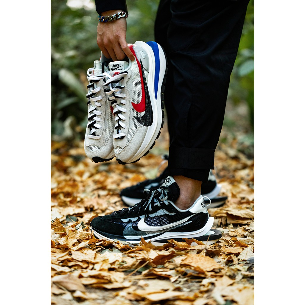 S.G Sacai X Nike Vaporwaffle 聯名 限量 休閒鞋 灰白 CV1363-100 黑白 001