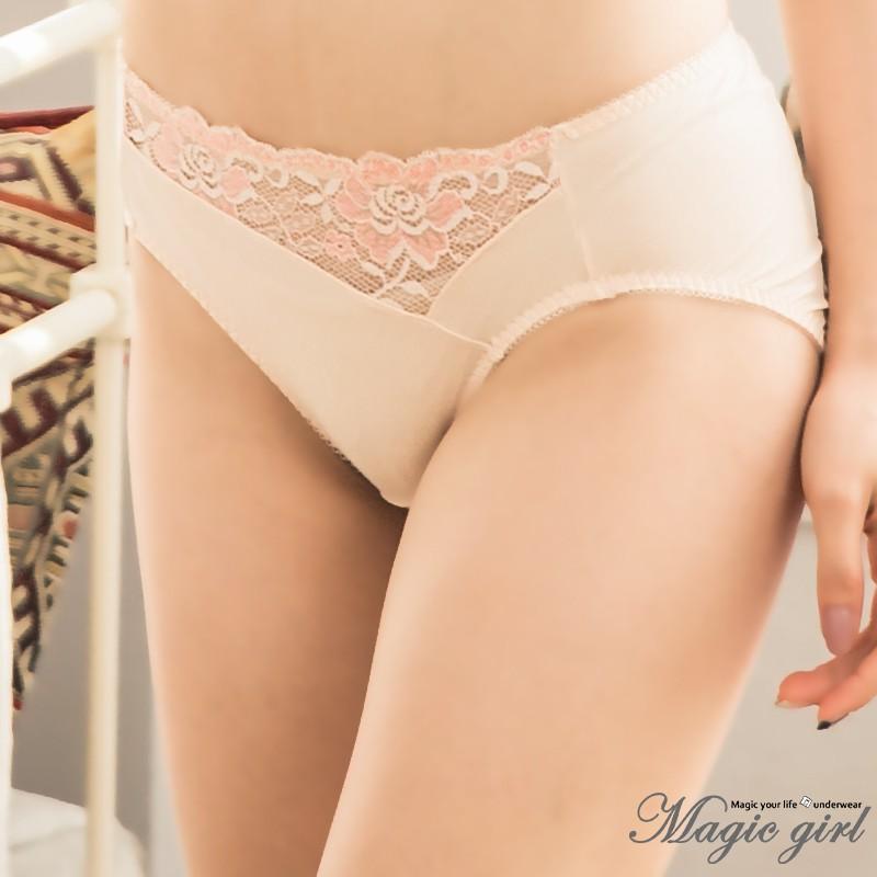 Magic girl美衣魔櫥 秘密花園 單件配褲【M L XL】台灣製 2色 粉膚 寶藍