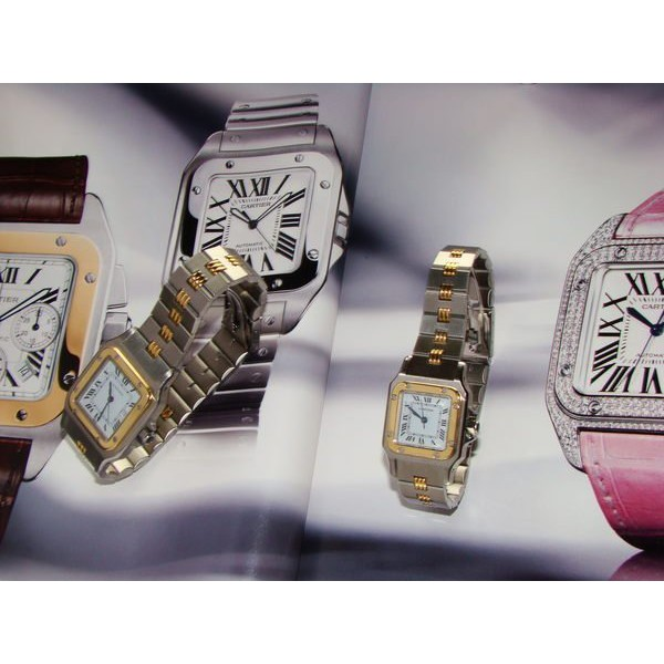 Cartier18K x不銹鋼 SM SANTOS 自動上錬女錶
