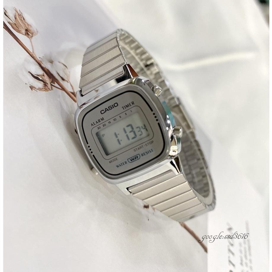 CASIO手錶 經緯度鐘錶 復古型淑女電子錶 正品 台灣CASIO公司貨附保固卡全省保固【超低價】LA670WA