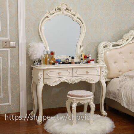 【怡姐姐】歐式梳妝臺簡約梳妝桌臥室梳妝臺小戶型迷你經濟型化妝桌網紅