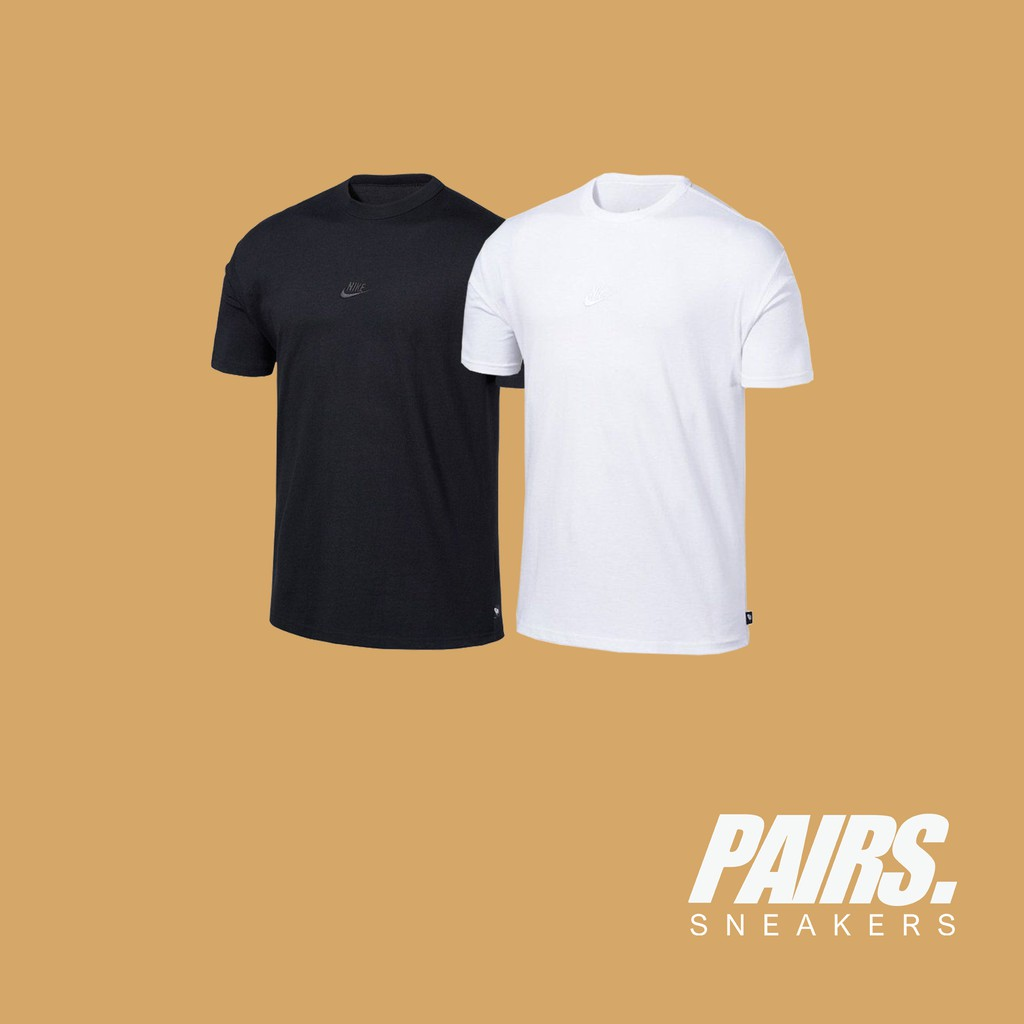 "PAIRS 現貨 NIKE Sportswear 重磅 刺繡 小logo 短T 黑/白 ""DB3194-010"""