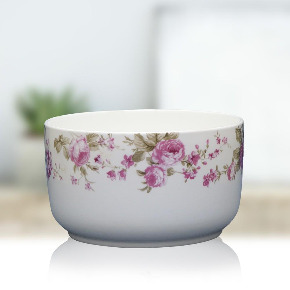 韓國陶瓷微波碗1000ml(小玫瑰花)夏綠蒂日貨