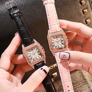 批發價最低$99!團購爆款娃娃機貨源Cartier同款時尚腕錶簡約H字面方形鑲鑽豪華潮流女式手錶水鑽石英表學生女士表