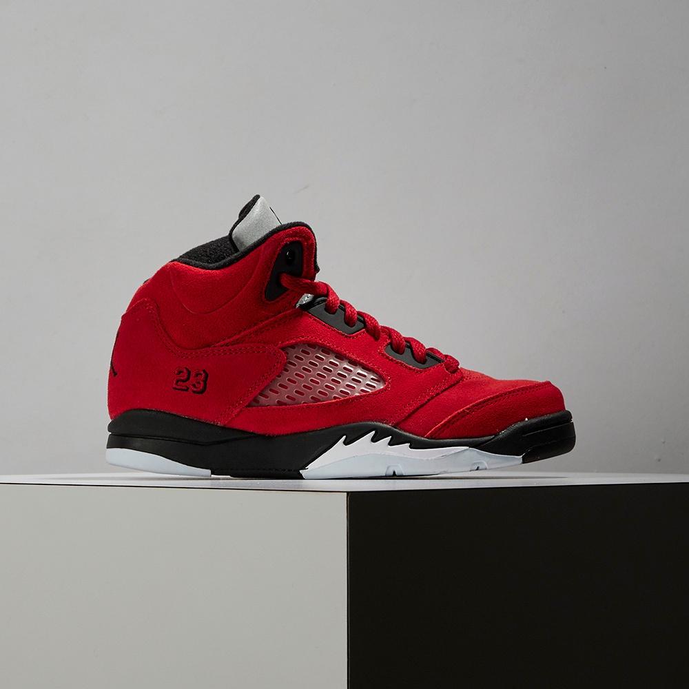Nike Air Jordan 5 Retro  Toro Bravo中童 紅 憤怒公牛 喬丹籃球鞋440889-600