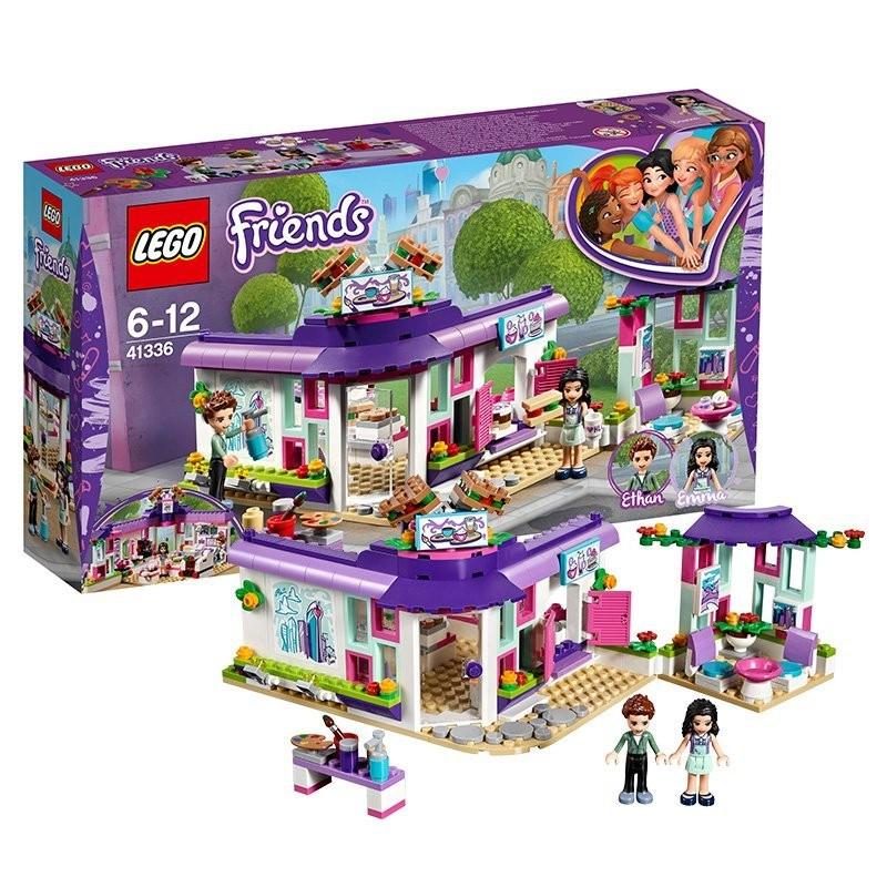 [8-23]LEGO樂高好朋友系列41336艾瑪的藝術咖啡館小顆粒女孩塑料積木