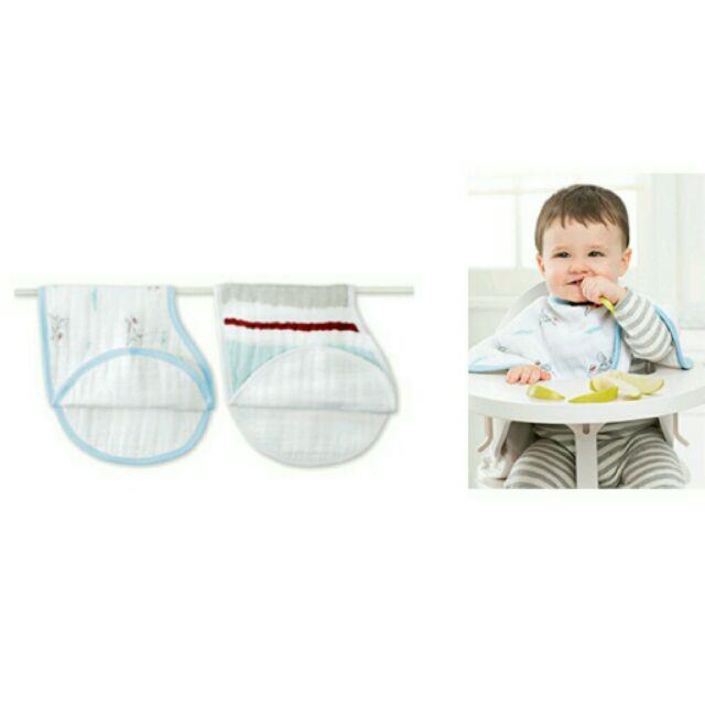 Aden+Anais - 嬰兒棉紗 拍嗝巾 圍兜