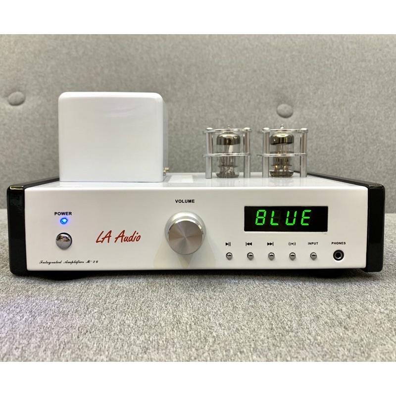 佑昇嚴選:丹麥LA Audio M-2 UB 藍芽/耳機/DAC/USB真空管擴大機(佑昇調音版)白色鋼烤