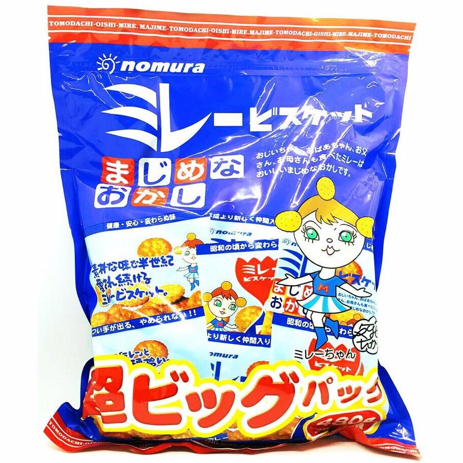 【米糖】日本 野村煎豆加工店 日本野村美樂圓餅 超大美樂圓餅 野村餅乾 樂小圓餅 小圓餅  美樂圓餅