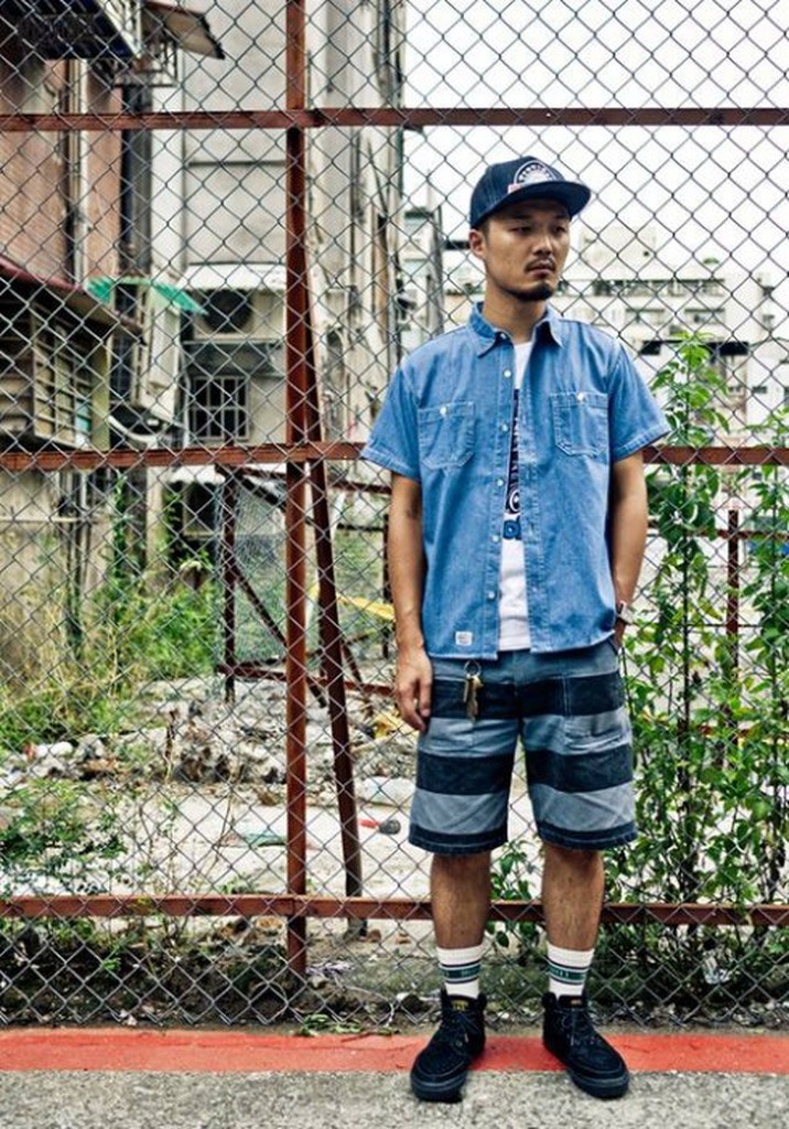 { RABBITER } PROVIDER 15 S/S Denim Shirts 短袖丹寧牛仔襯衫  藍/淺藍