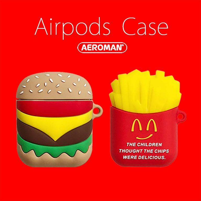 airpods 保護套 pro 速食 漢堡 薯條 爆米花 可樂 柴犬 無訊號 月光仙子 手仗 鈴鐺 拍立得 麻將 珍奶